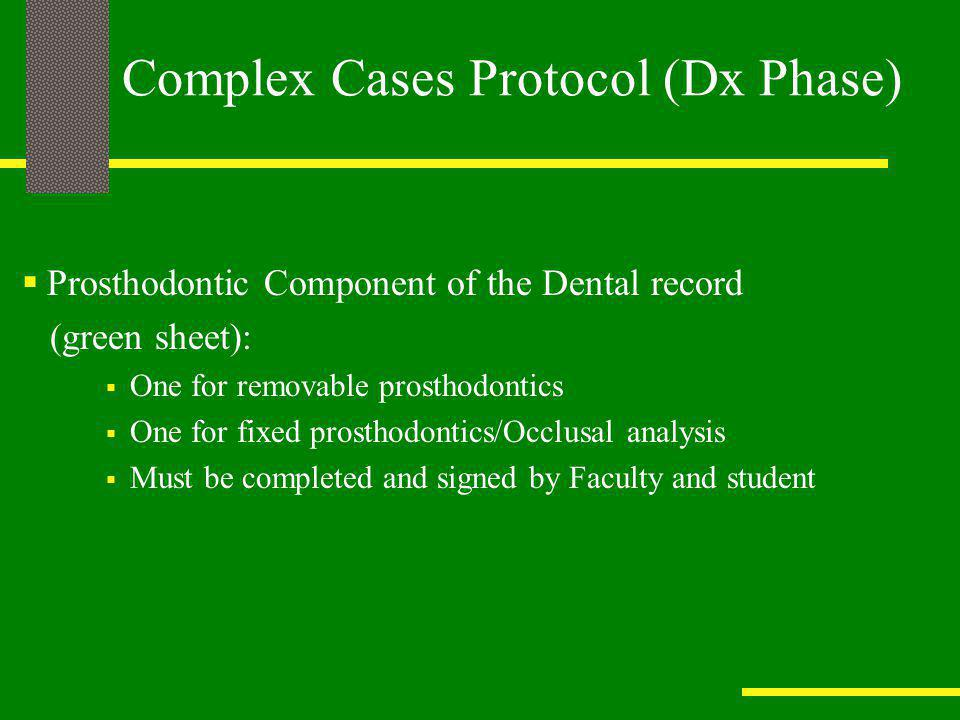 Complex Cases Protocol (Dx Phase)