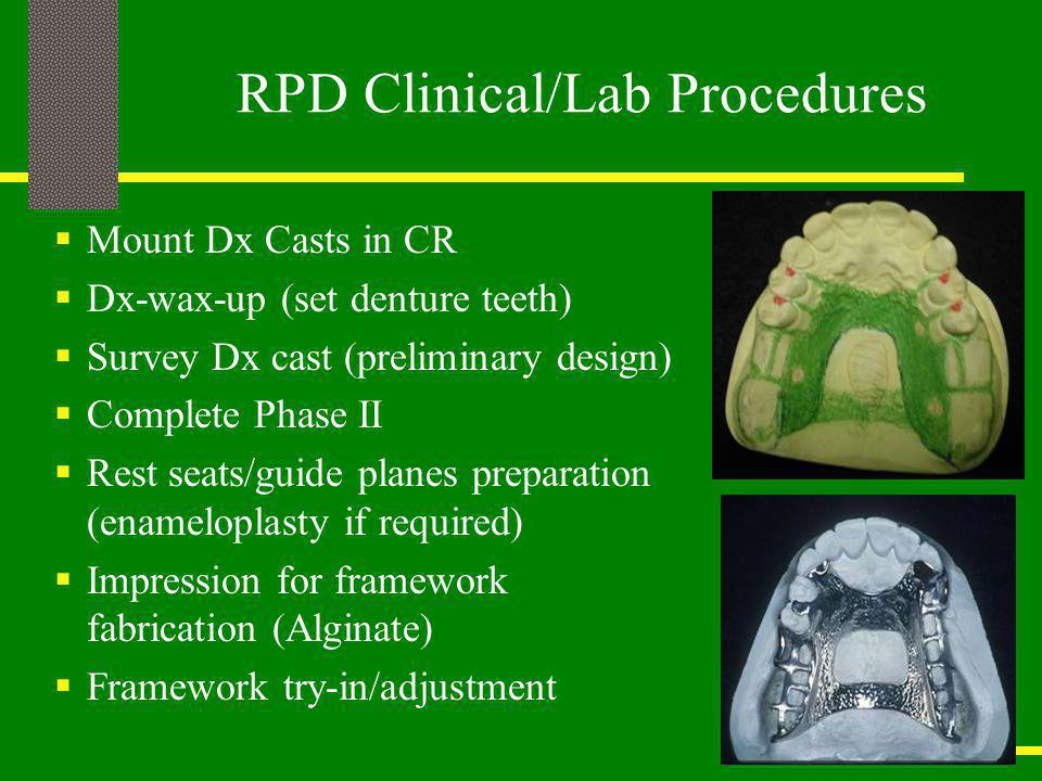RPD Clinical/Lab Procedures