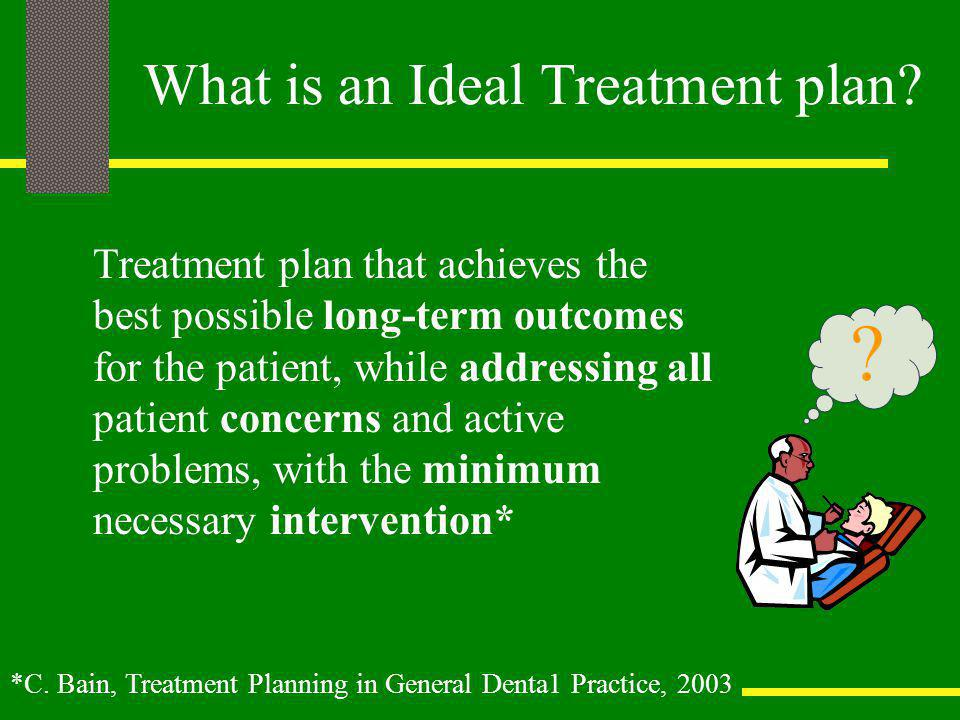 What is an Ideal Treatment plan