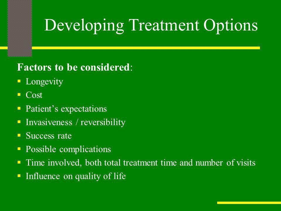 Developing Treatment Options