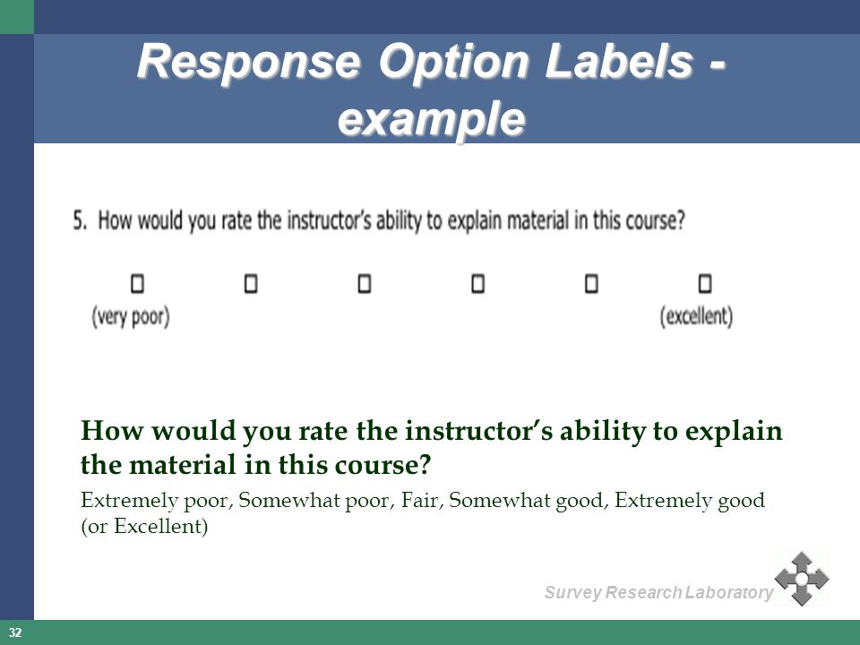 Response Option Labels - example