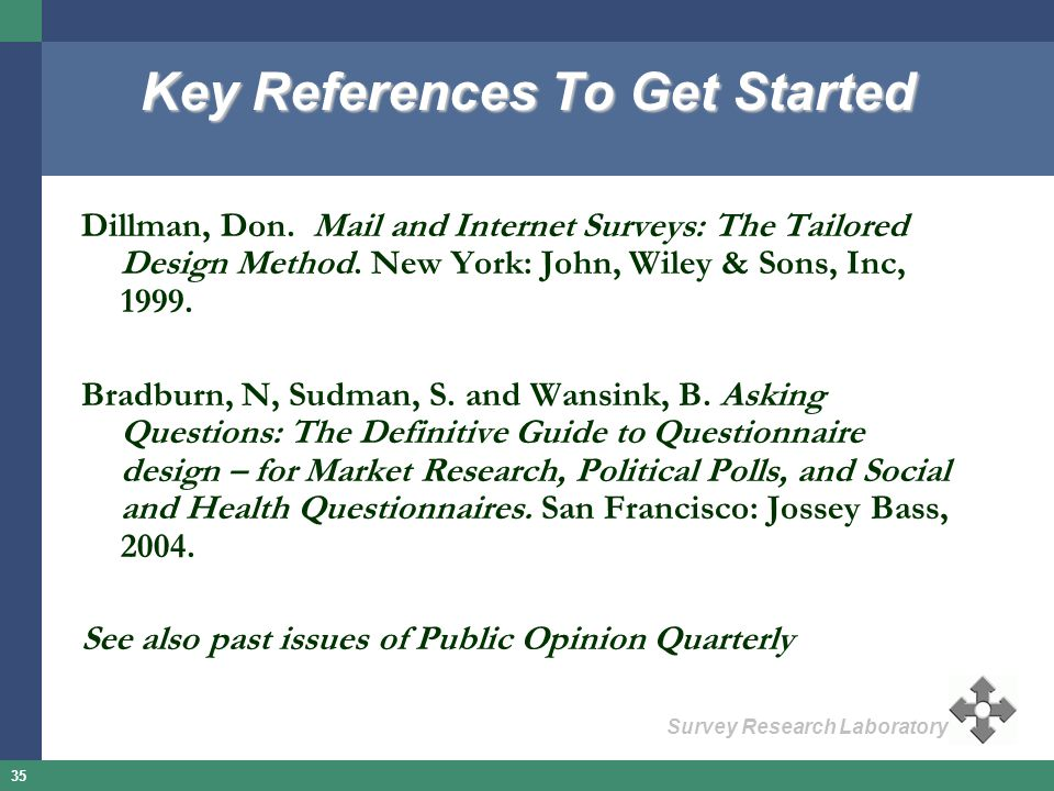 Key References To Get Started