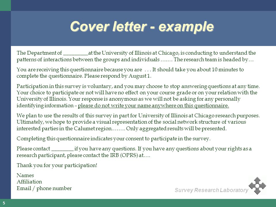 Cover letter - example