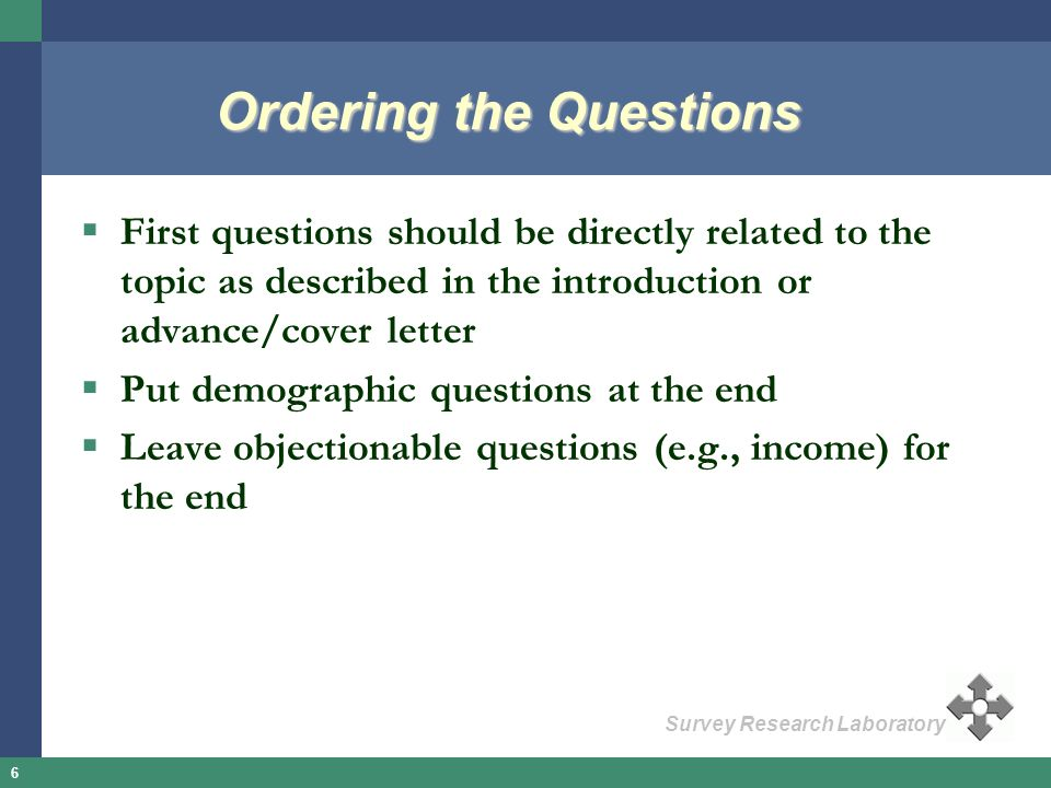 Ordering the Questions
