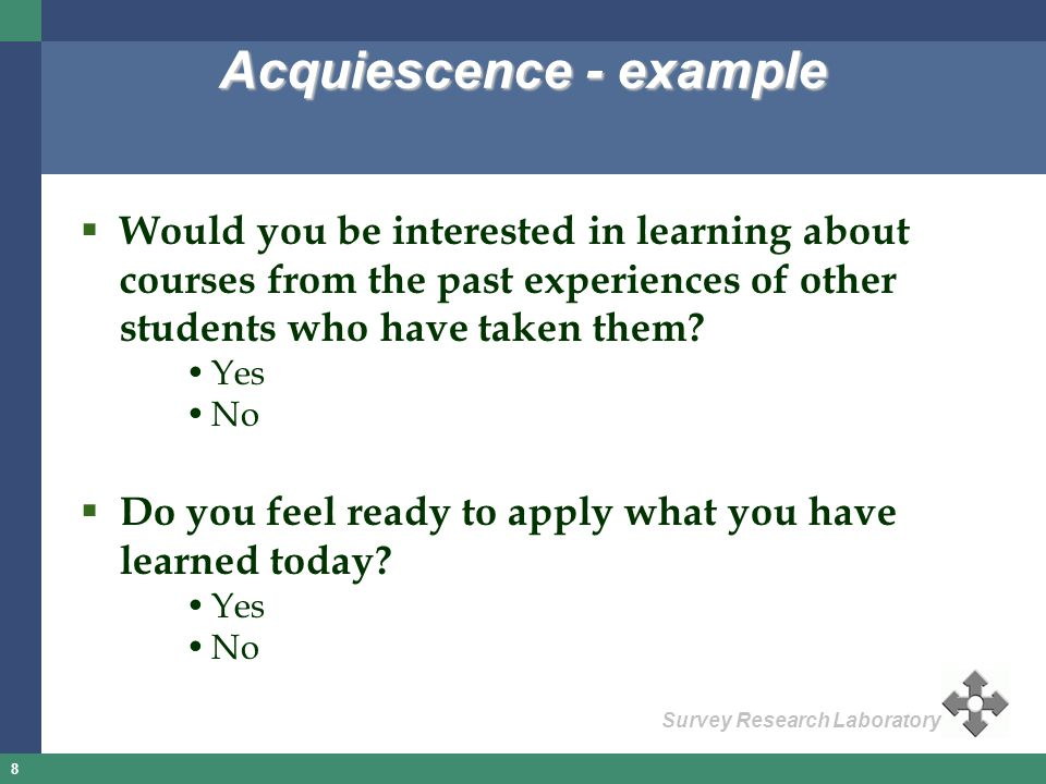 Acquiescence - example