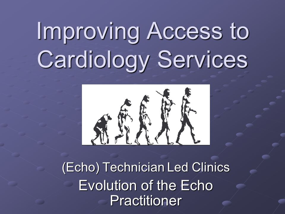 Improving Access to Cardiology Services
