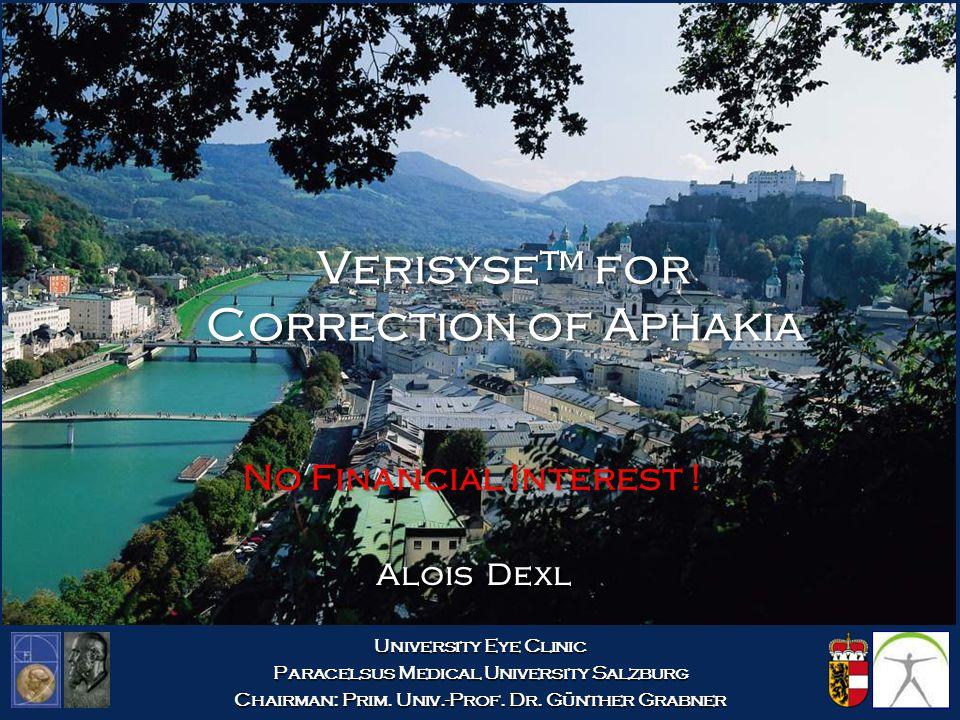 Verisyse™ for Correction of Aphakia