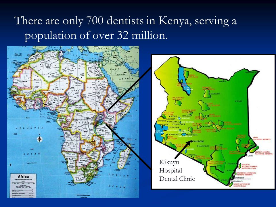 There are only 700 dentists in Kenya, serving a population of over 32 million.