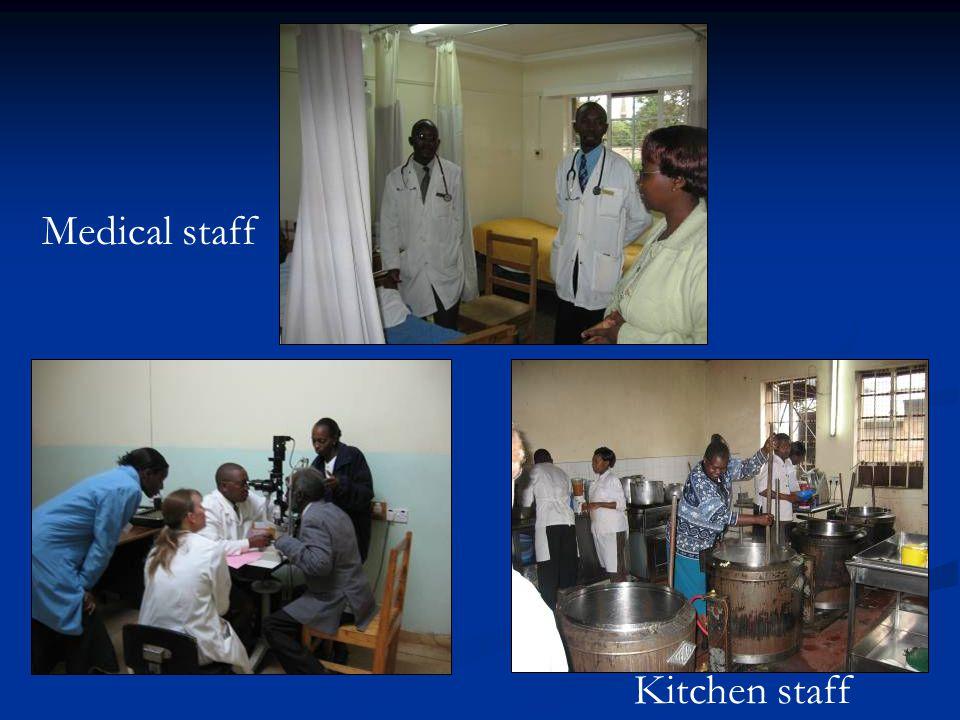 Medical staff Kitchen staff
