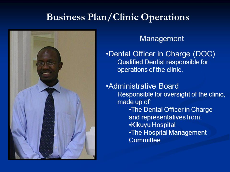 Business Plan/Clinic Operations