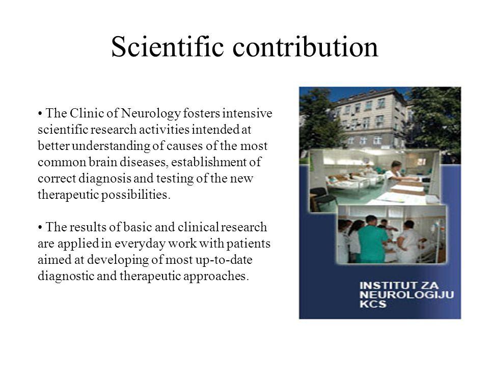 Scientific contribution