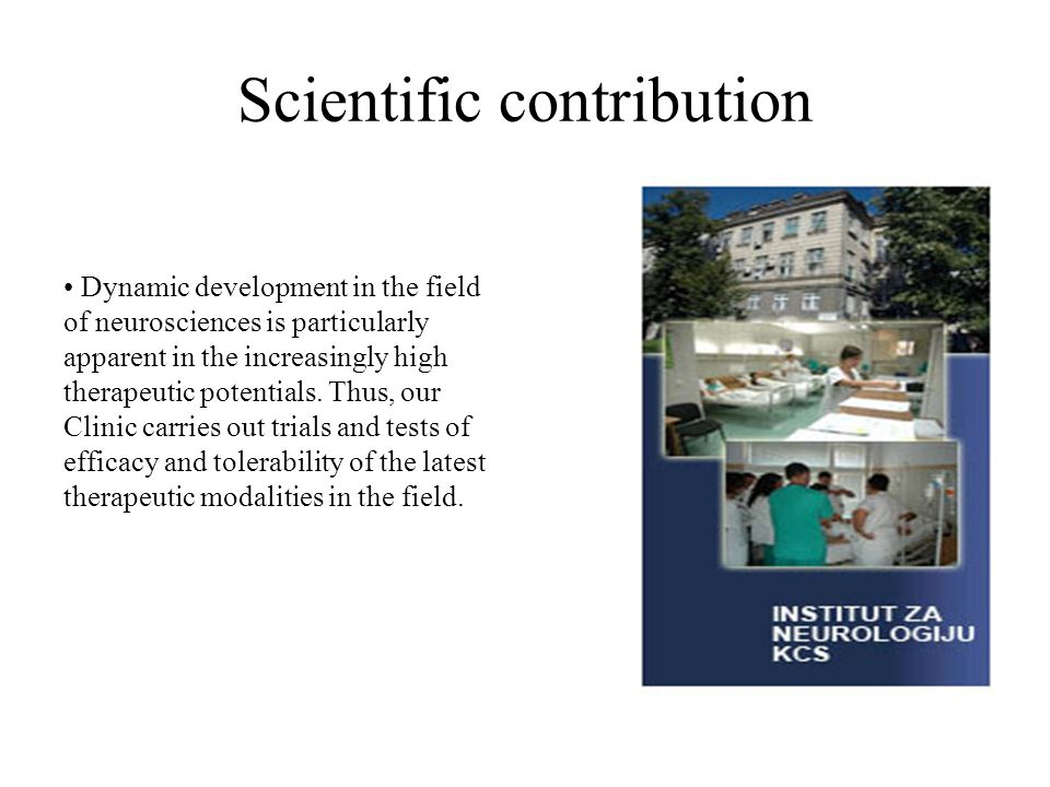 Scientific contribution
