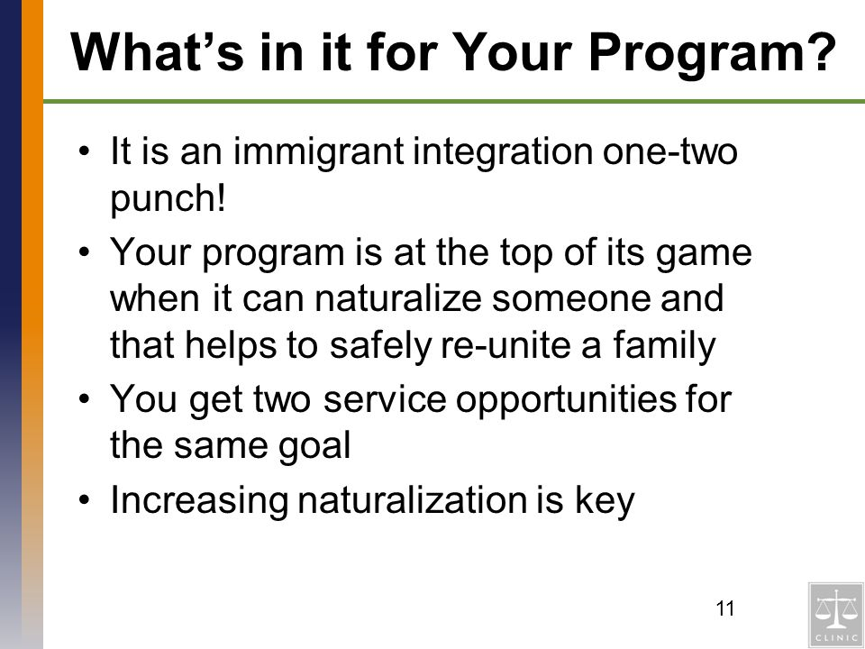 What's in it for Your Program
