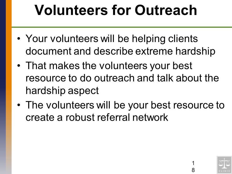 Volunteers for Outreach
