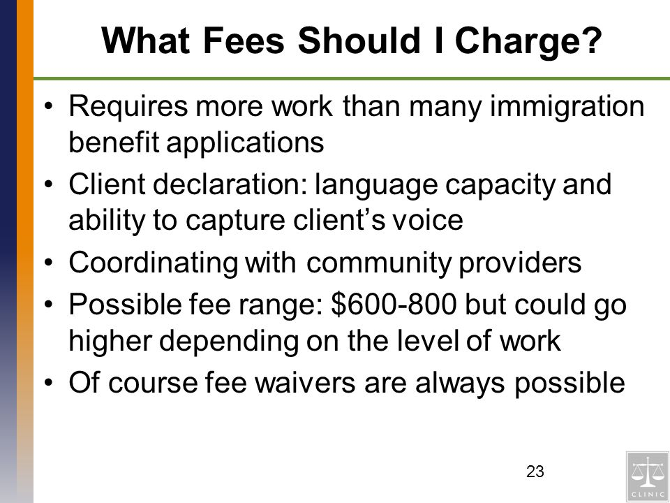 What Fees Should I Charge