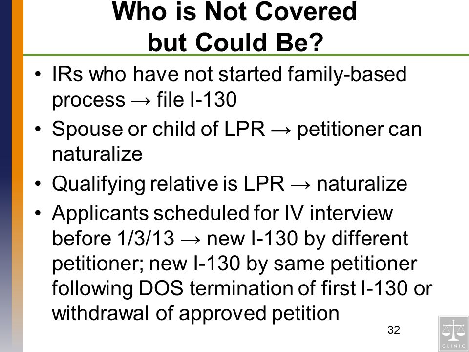 Who is Not Covered but Could Be