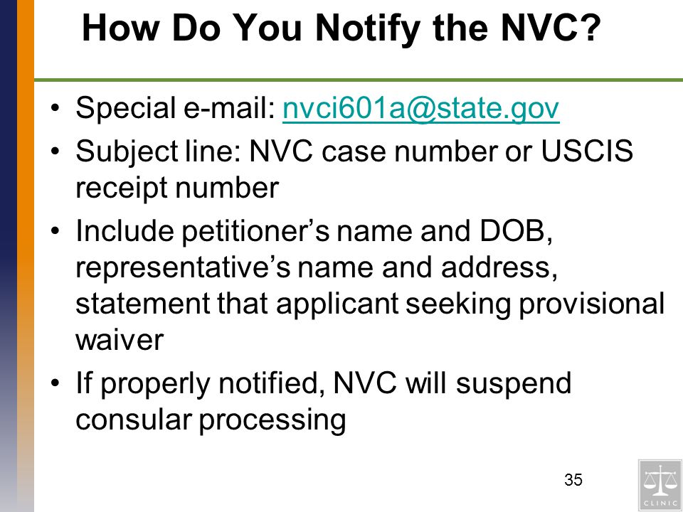 How Do You Notify the NVC
