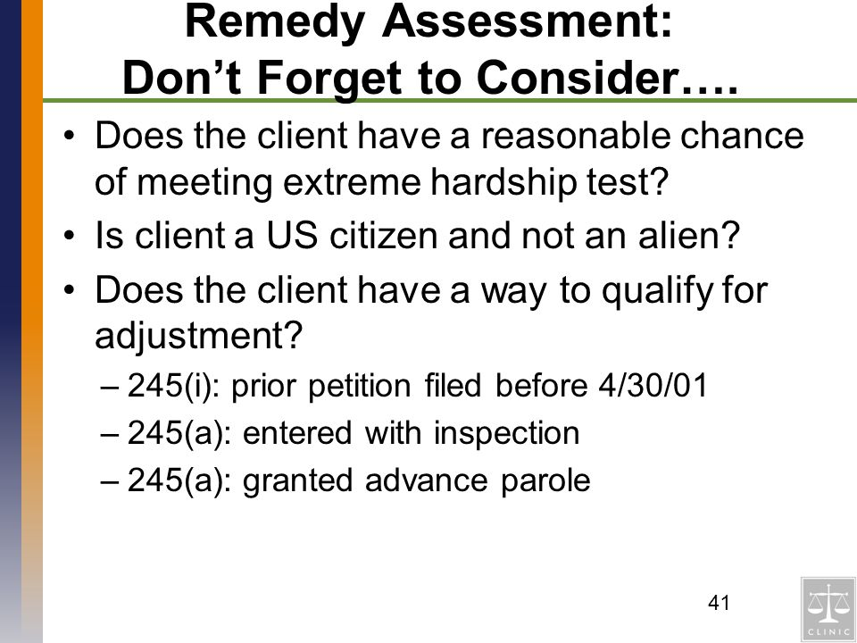 Remedy Assessment: Don't Forget to Consider….