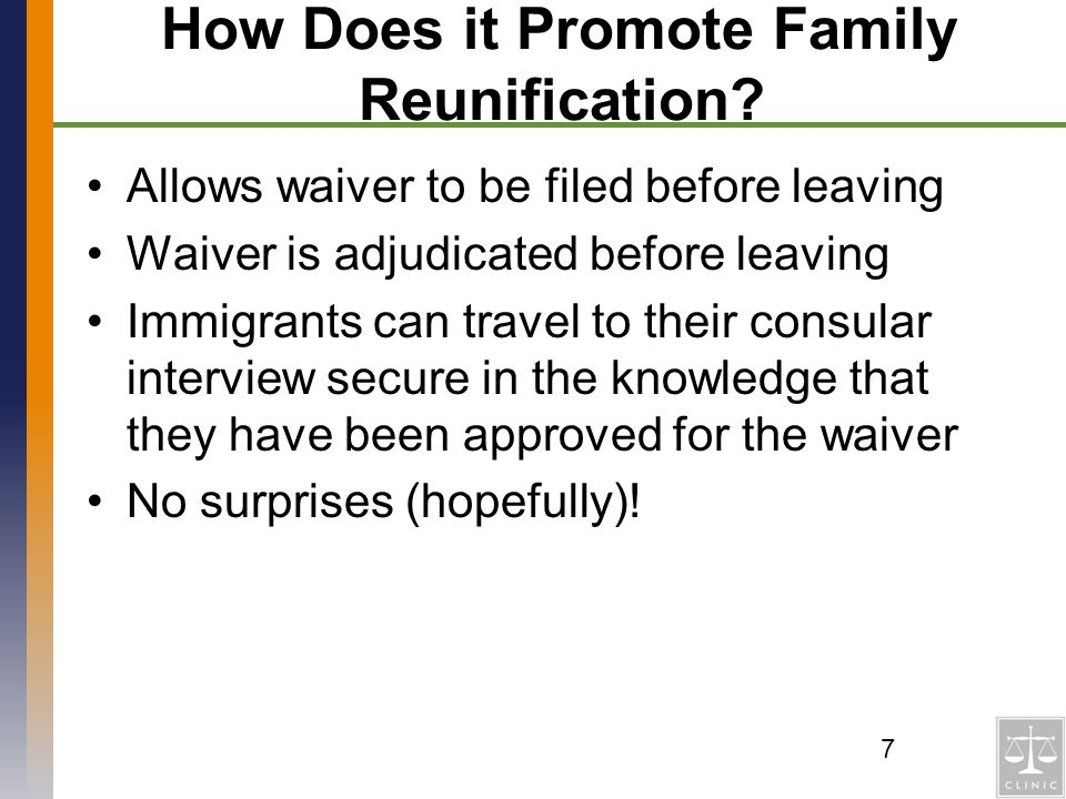 How Does it Promote Family Reunification