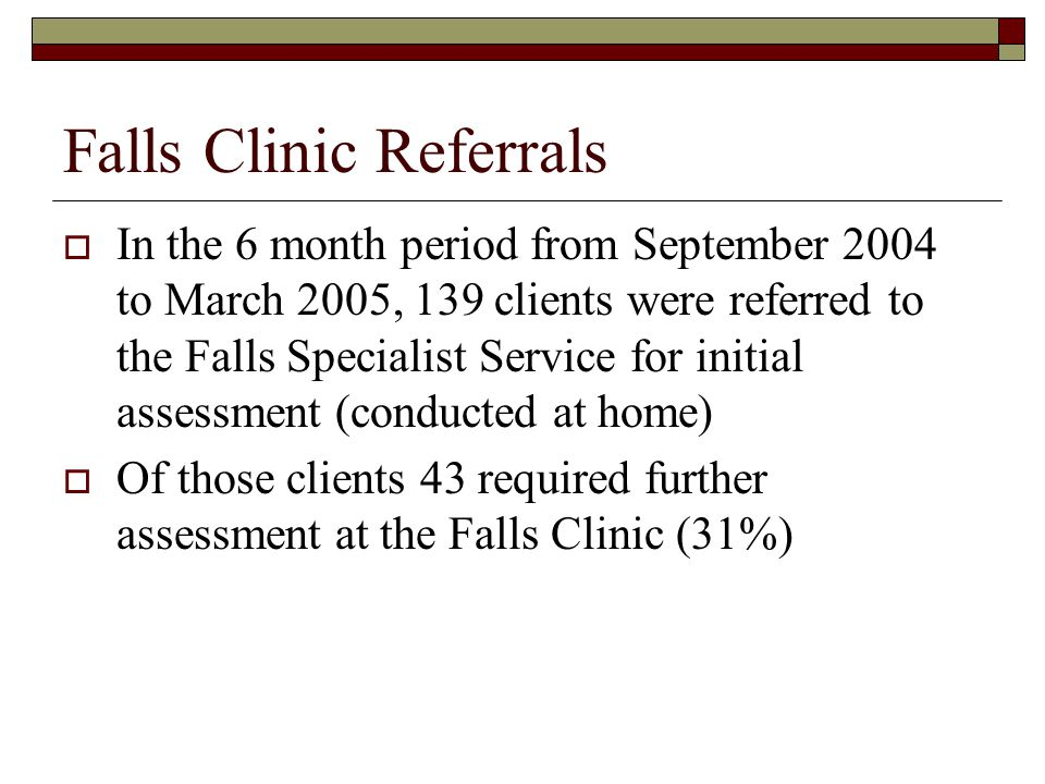 Falls Clinic Referrals