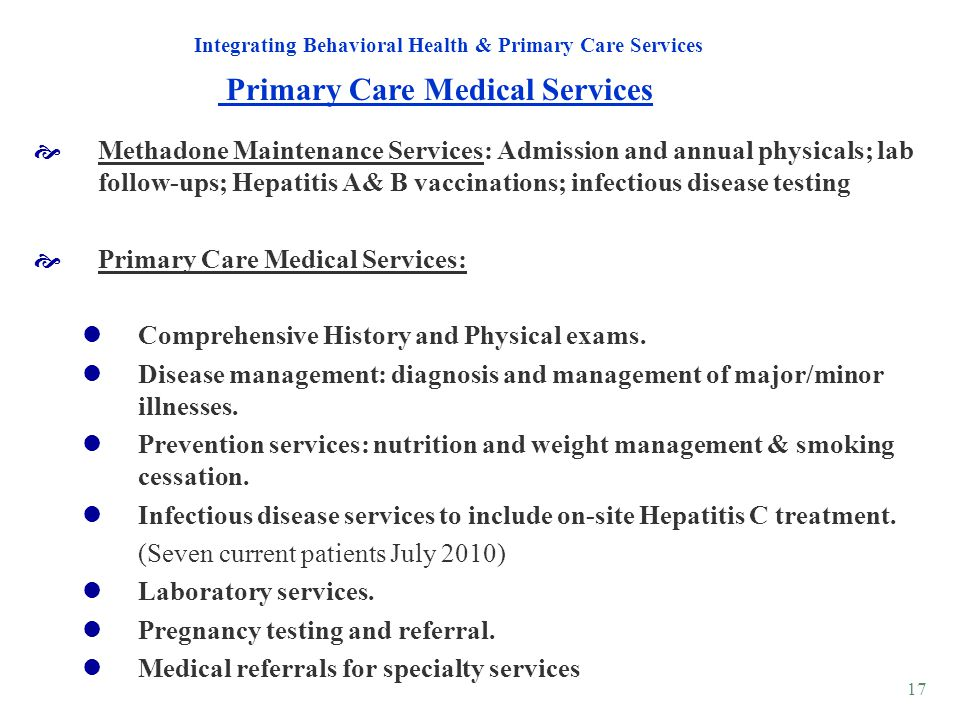 Primary Care Medical Services