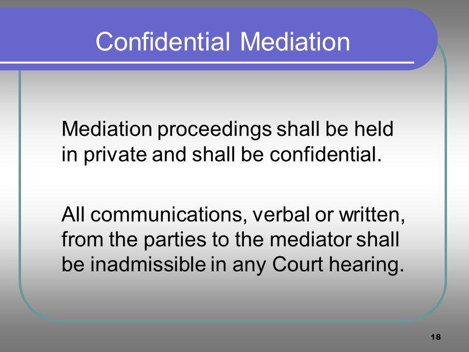 Confidential Mediation