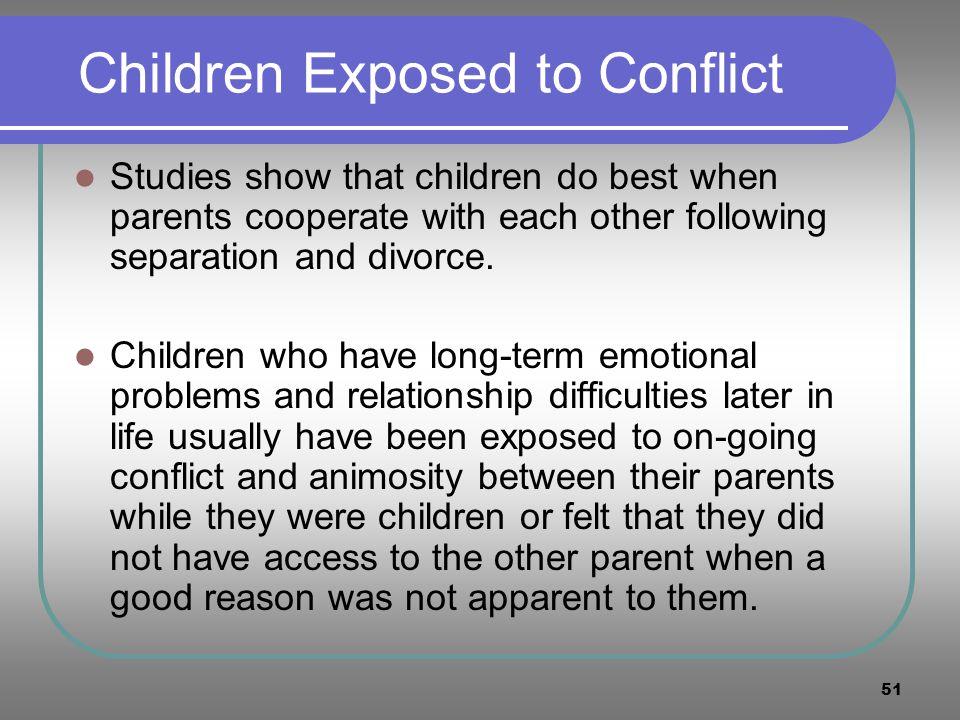 Children Exposed to Conflict