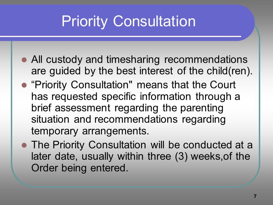 Priority Consultation