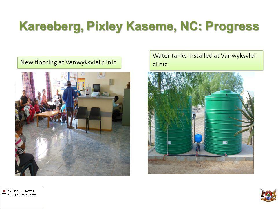 Kareeberg, Pixley Kaseme, NC: Progress