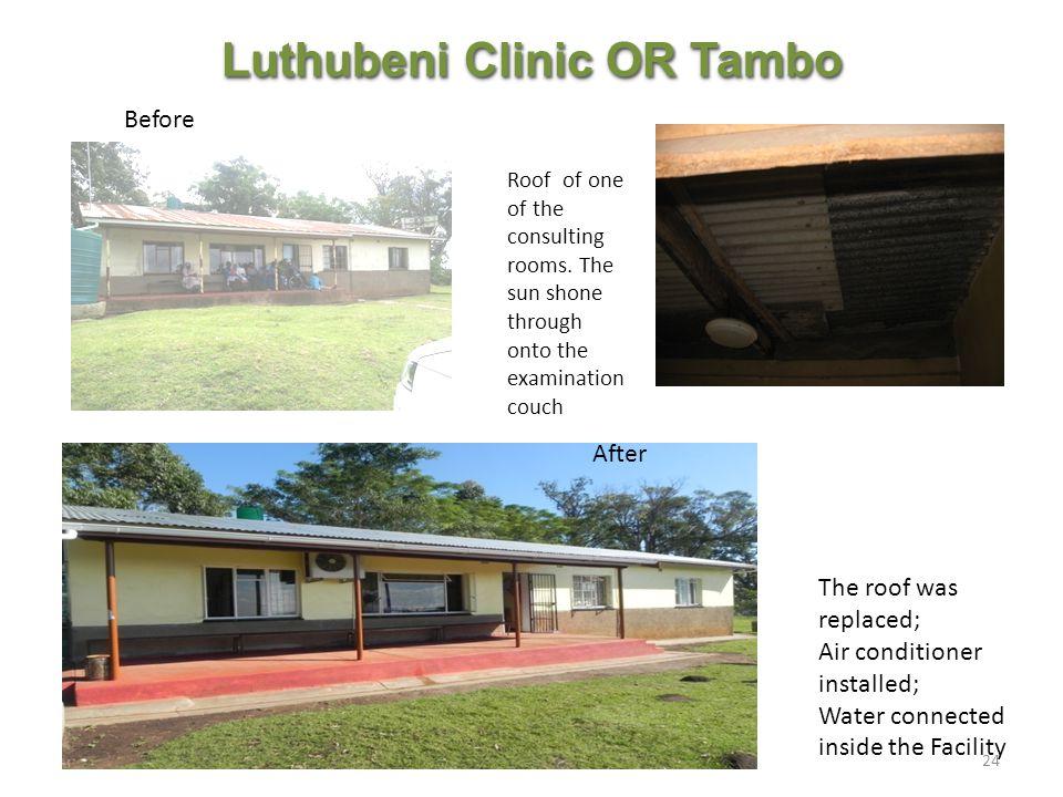 Luthubeni Clinic OR Tambo