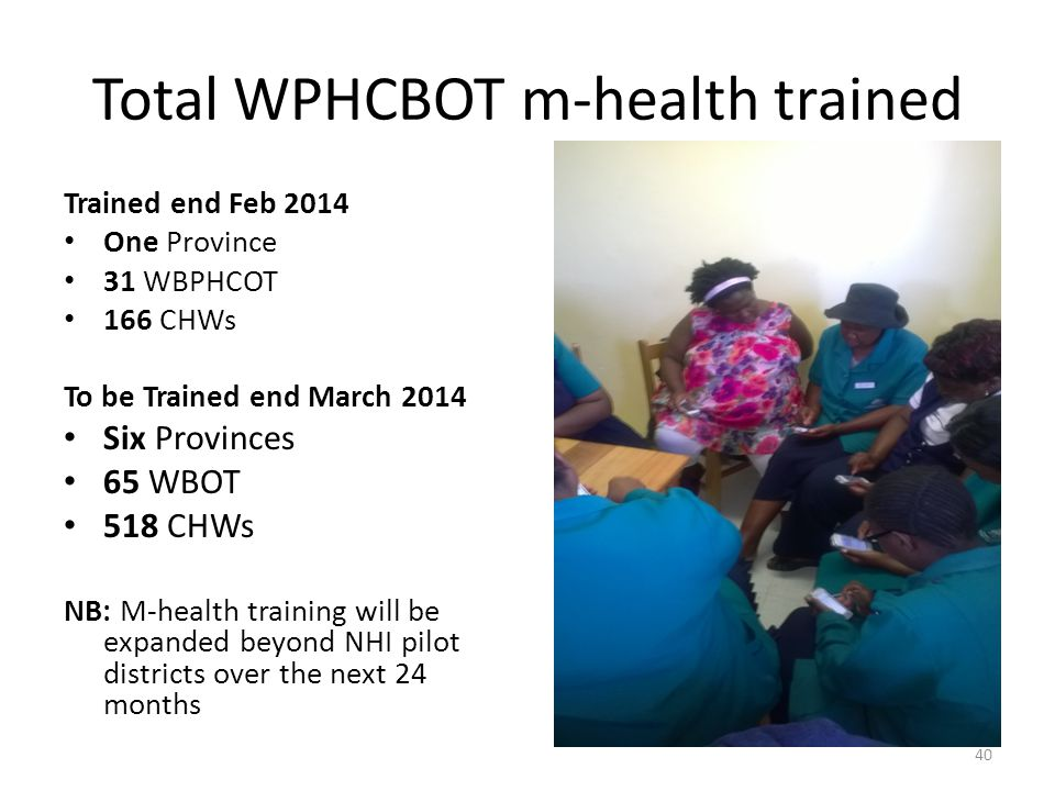 Total WPHCBOT m-health trained