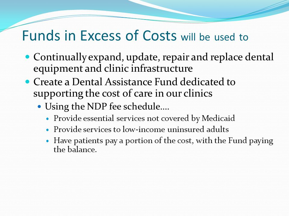 Funds in Excess of Costs will be used to