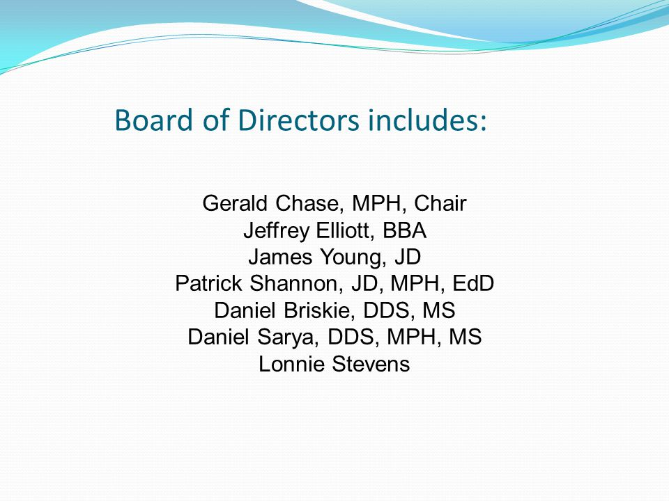 Board of Directors includes: