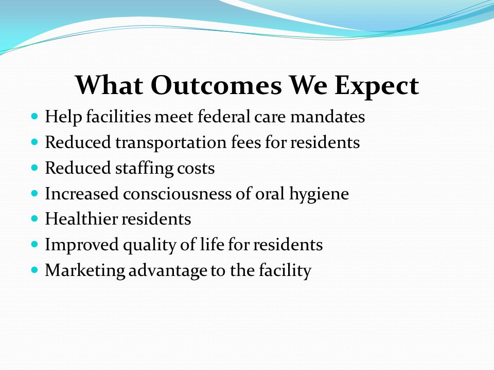 What Outcomes We Expect
