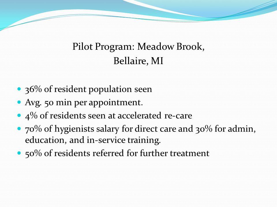 Pilot Program: Meadow Brook,