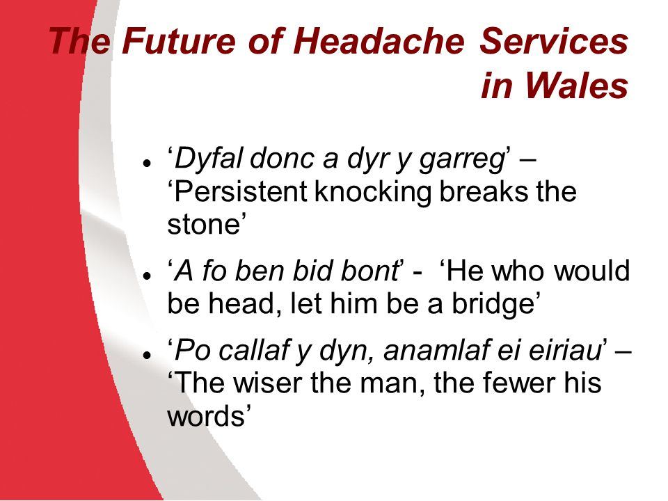 The Future of Headache Services in Wales