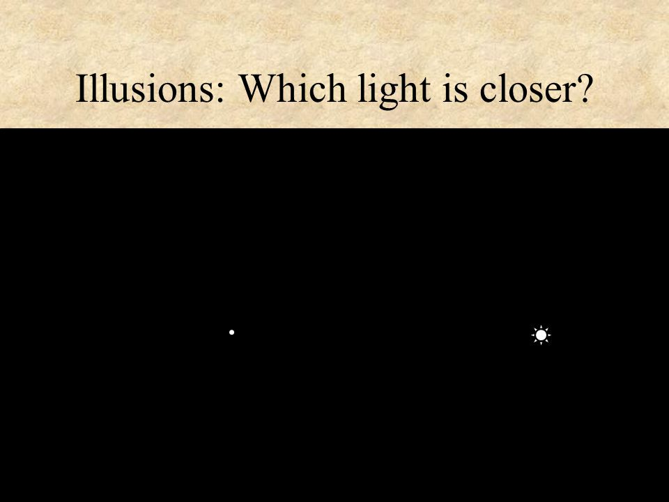 Illusions: Which light is closer