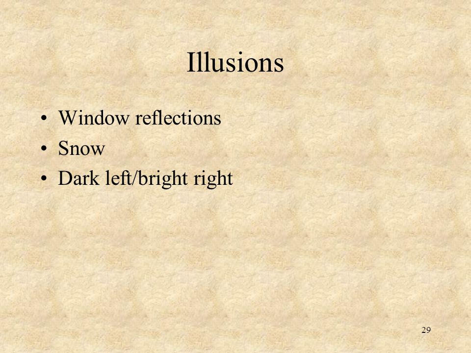 Illusions Window reflections Snow Dark left/bright right