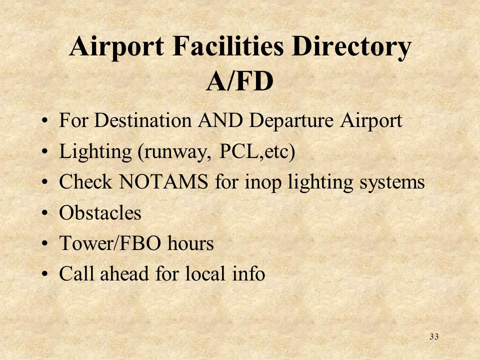 Airport Facilities Directory A/FD
