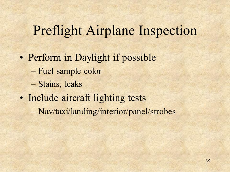 Preflight Airplane Inspection