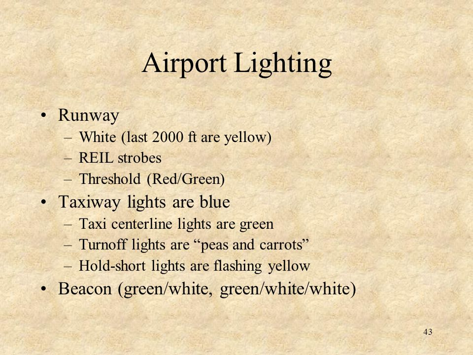 Airport Lighting Runway Taxiway lights are blue