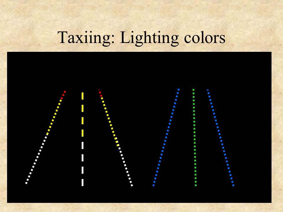 Taxiing: Lighting colors