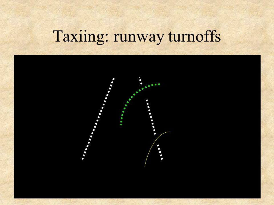 Taxiing: runway turnoffs