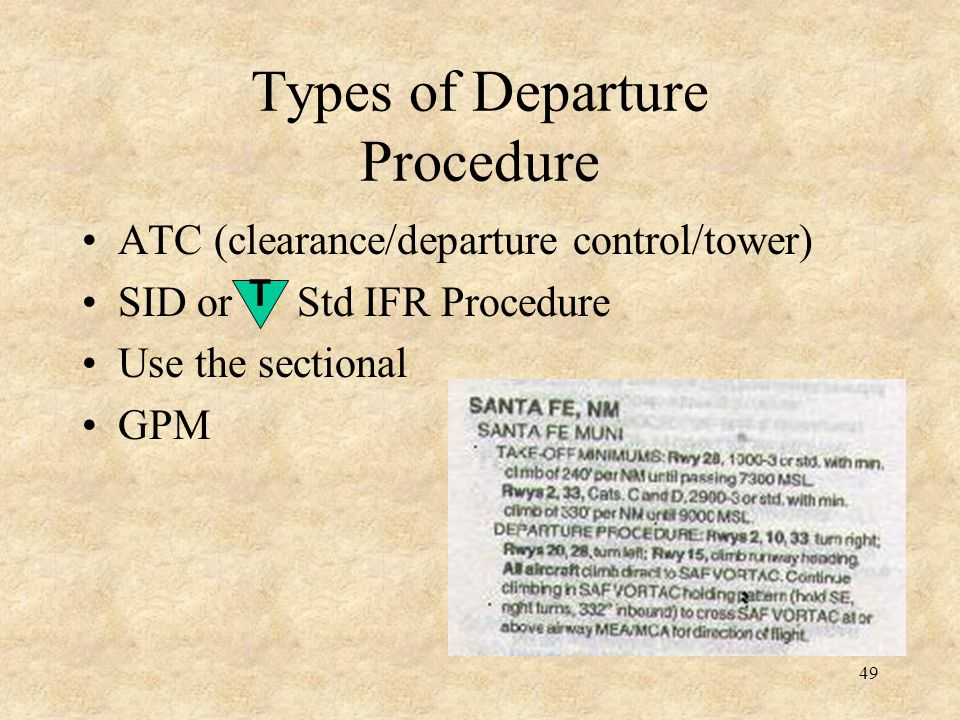Types of Departure Procedure