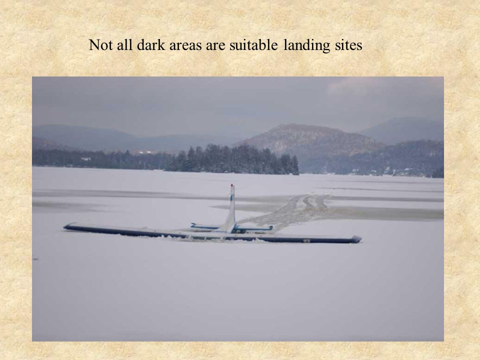 Not all dark areas are suitable landing sites