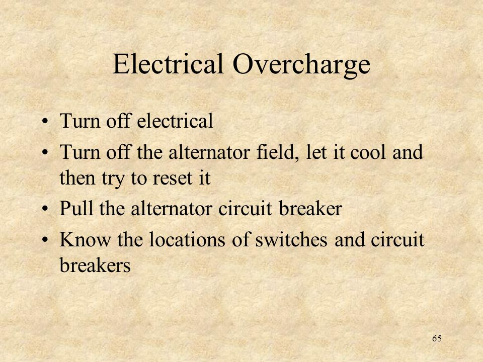 Electrical Overcharge