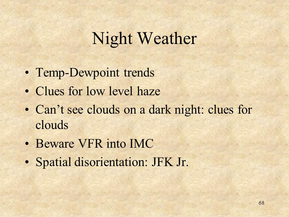 Night Weather Temp-Dewpoint trends Clues for low level haze