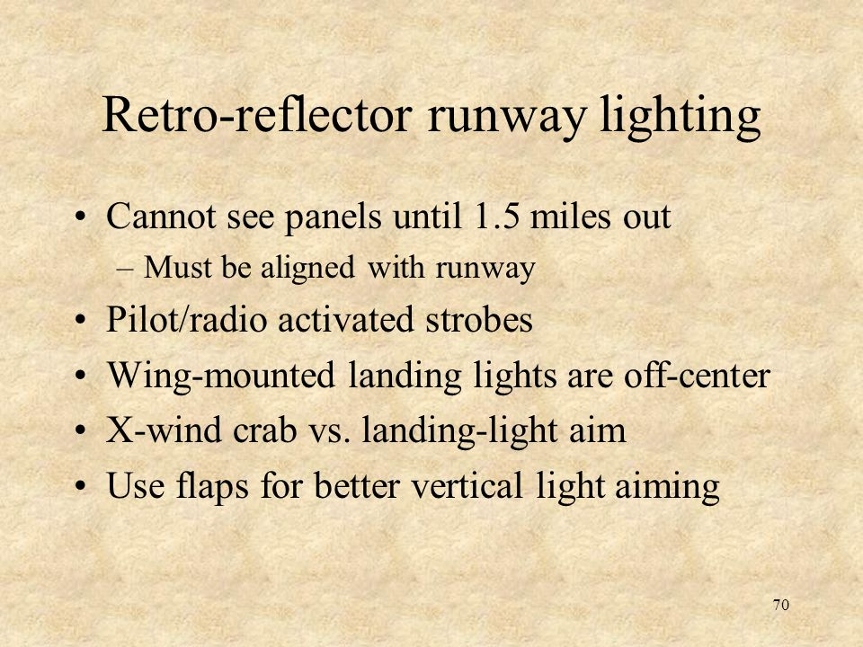 Retro-reflector runway lighting