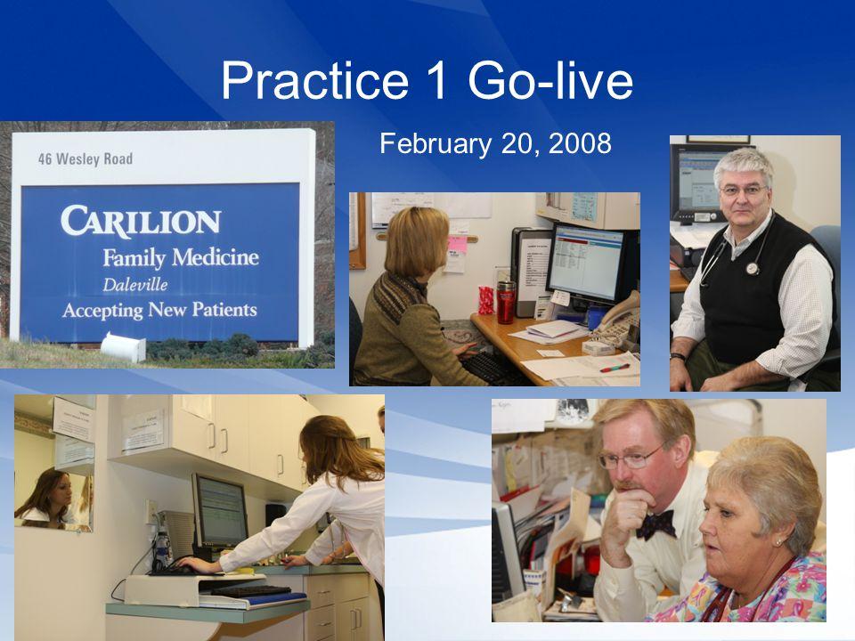 Practice 1 Go-live February 20, 2008
