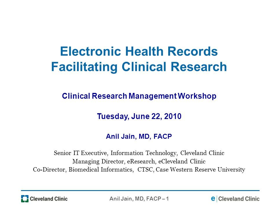 Electronic Health Records Facilitating Clinical Research